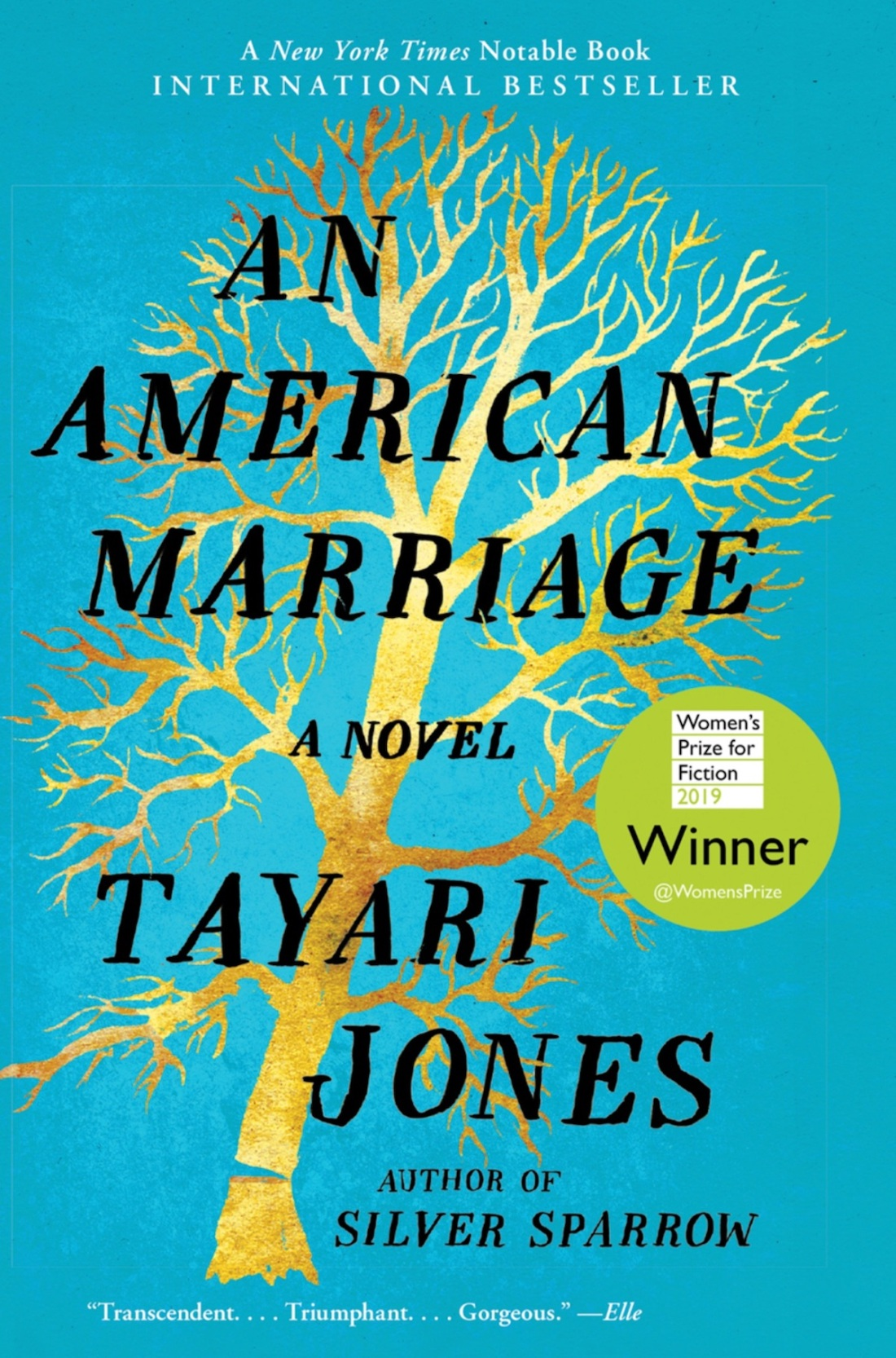book cover of An American Marriage by Tayari Jones
