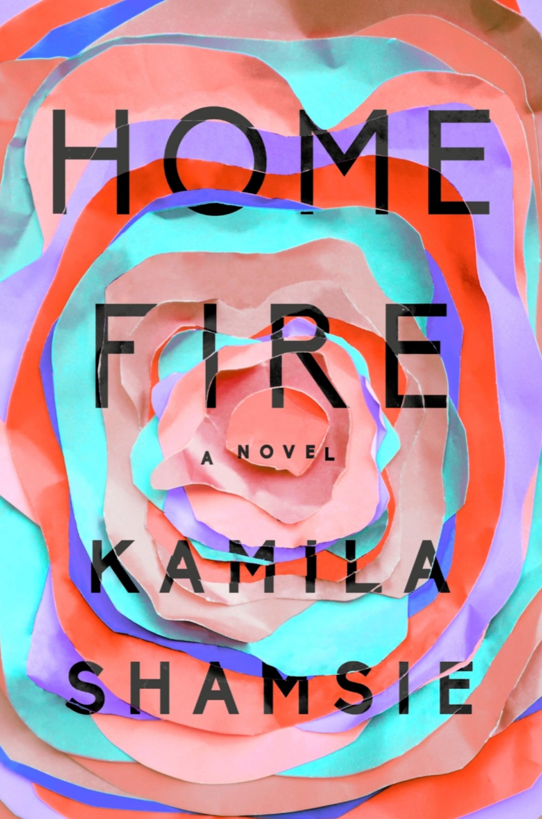 book cover for novel Home Fire by Kamila Shamsie