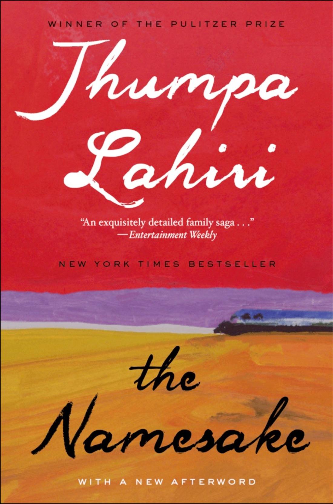 book cover of The Namesake by Jhumpa Lahiri