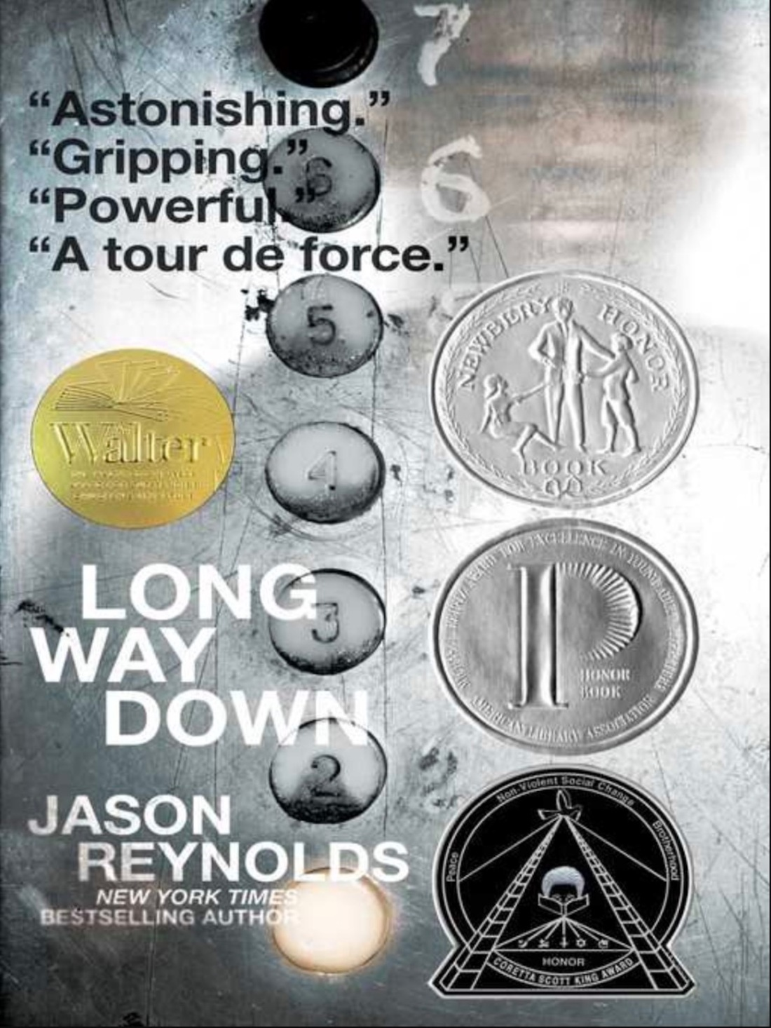 screenshot of cover of long way down by Jason Reynolds