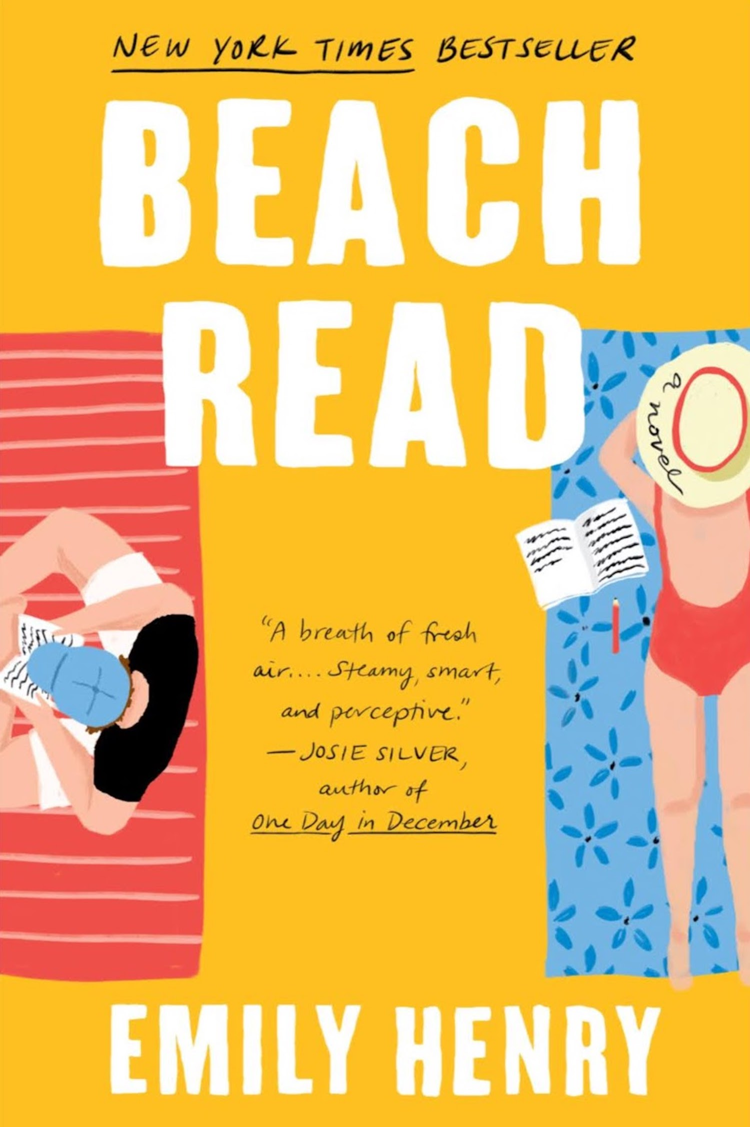beach read book cover, by Emily Henry
