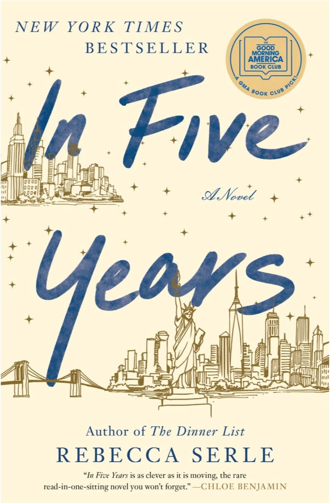 book cover of In Five Years by Rebecca Searle